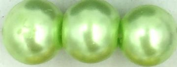 07 Light green - glass pearls - beads - all sizes
